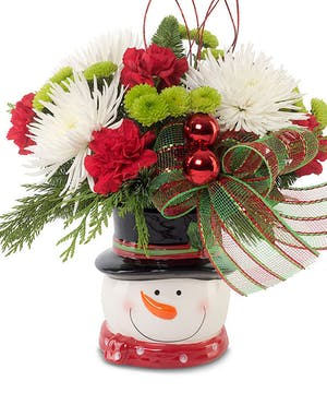 Snowman holiday arrangement