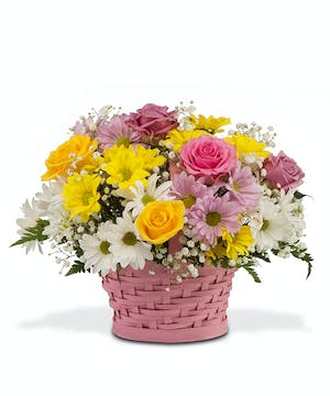 Mother's Day daisy basket