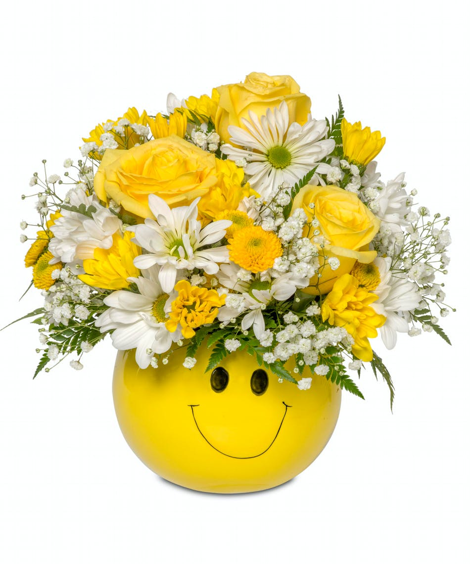 About Happy Face Emoji From Walter Knoll Florist In Saint Louis Mo
