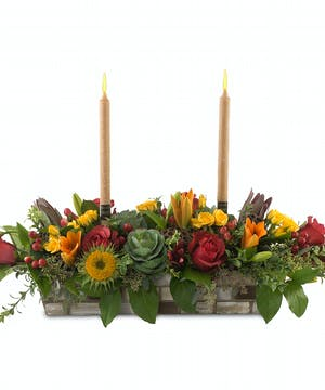 One, two or three candle, holiday centerpiece