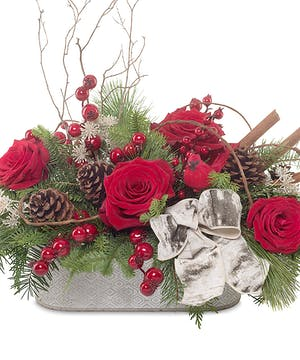 Vintage country holiday centerpiece