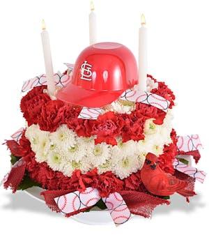 Walter Knoll Florist Cardinal Birthday Cake