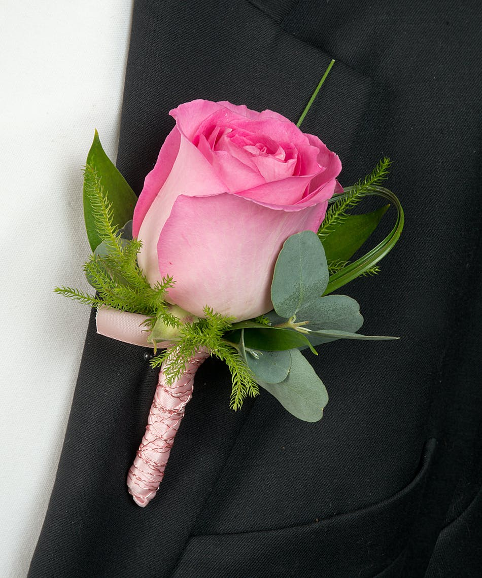 about pink rose boutonniere from walter knoll florist in saint louis mo - Garden Rose Boutonniere