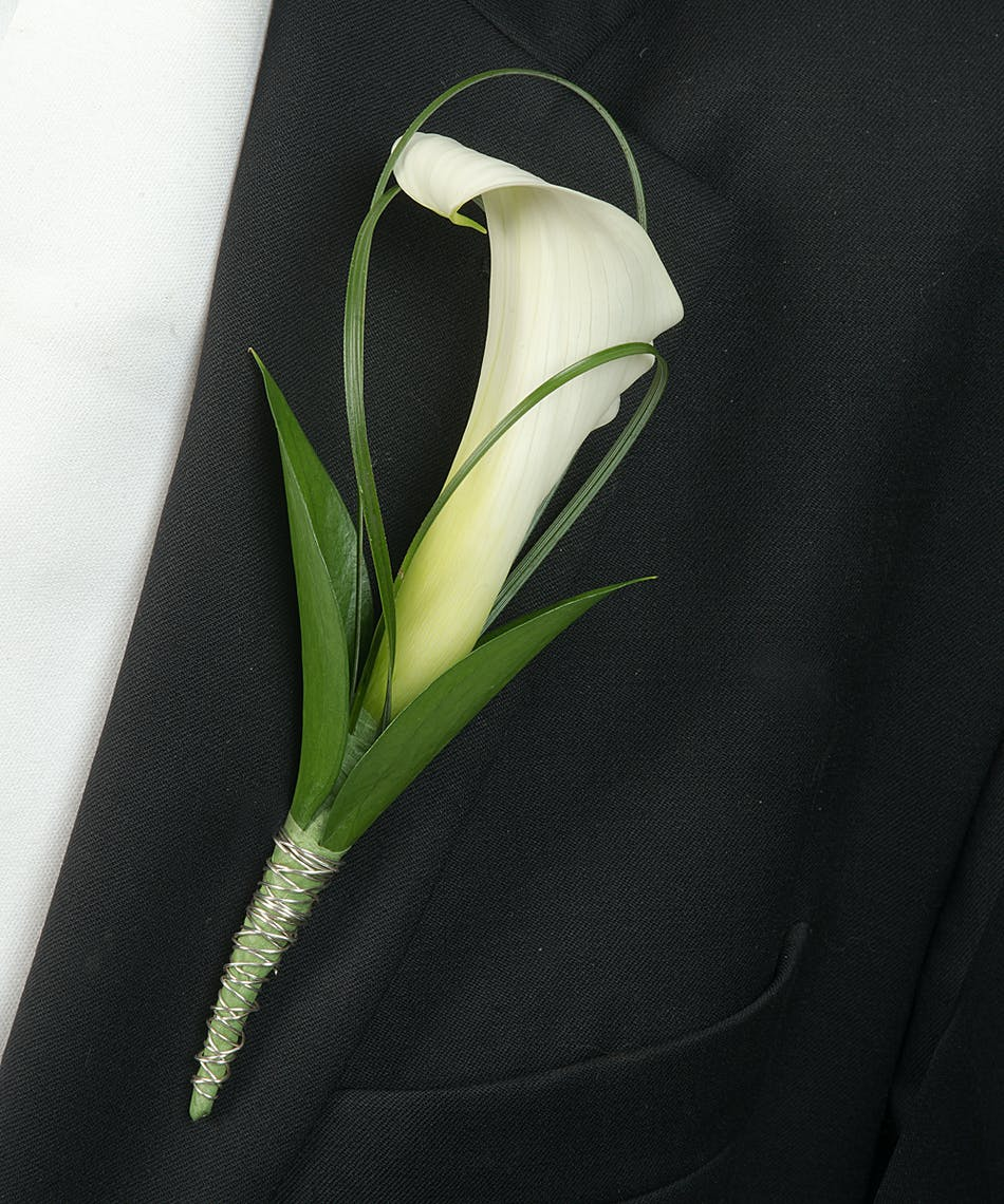About White Calla Lily Boutonniere From Walter Knoll Florist In