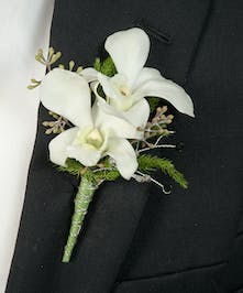 Boutonniere with Dendrobium orchids