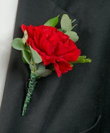 Boutonniere with carnation