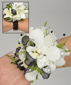 Corsage with Dendrobium orchids