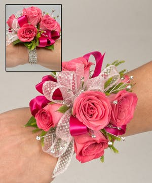 Corsage with sweetheart roses