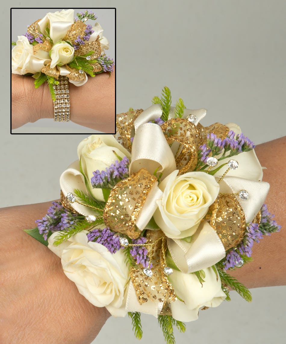 About Champagne Sparkle Corsage From Walter Knoll Florist In Saint