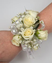 Roses and Baby's Breath Corsage