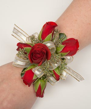 Classic Red Corsage