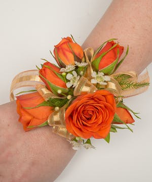 Sunset Rose Corsage
