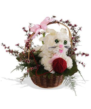 Novelty Puppy Bouquet made of Carnations