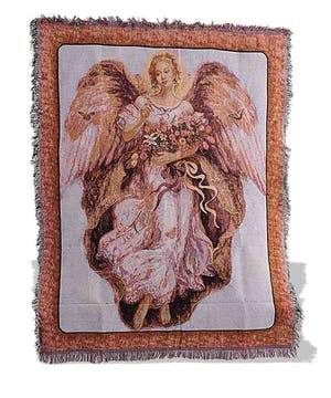 Holy Angel image w/flowers & butterflies