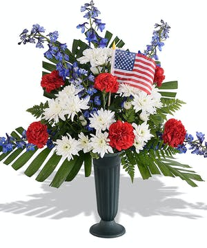 Walter Knoll Florist Patriotic Grave Decoration
