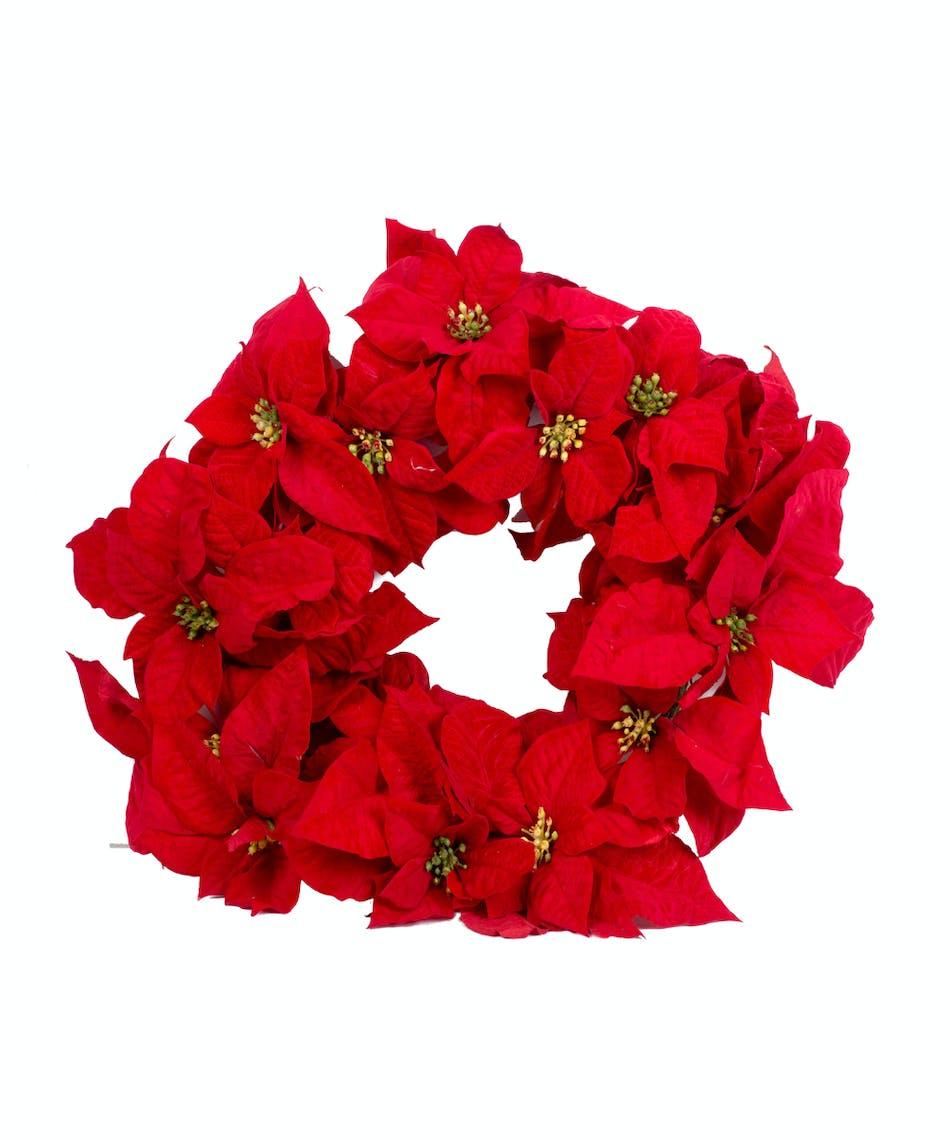 22 Silk Poinsettia Wreath Walter Knoll Florist Saint Louis Mo