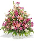 Traditional Mix Fan Shaped Funeral Basket