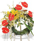 'Tropical Fusion Standing Wreath
