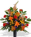 Fall Mixed Blooms Tribute