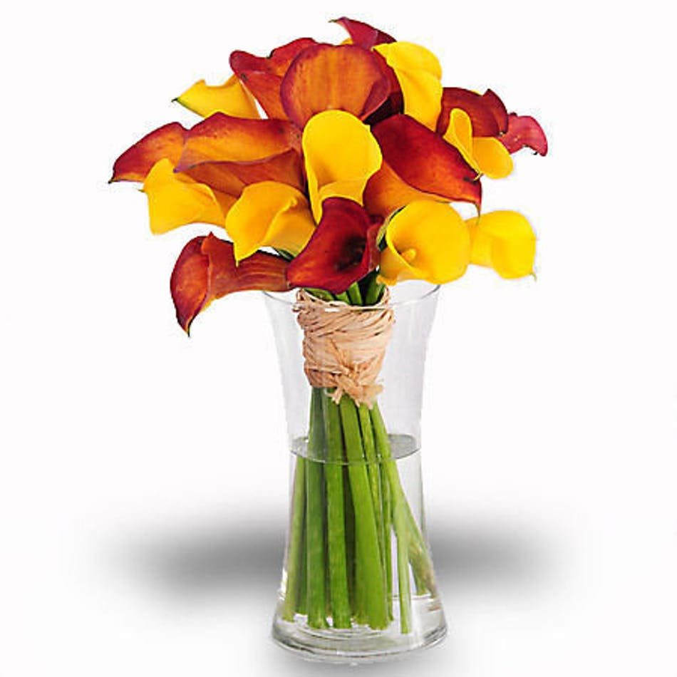 About mango calla lily bouquet rich vinrant color from your beautiful bouquet of calla lilies izmirmasajfo