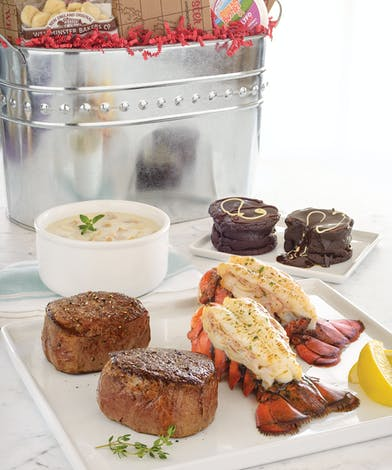 Walter Knoll florist Surf and turf Gift Bucket