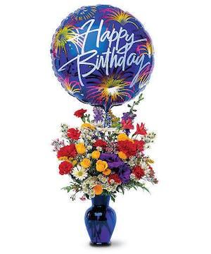 Walter Knoll Florist Birthday Fireworks Bouquet