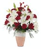 Lilies and Snow - Lilies and 12 Red Roses