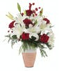Lilies and Snow - Lilies and 6 Red Roses